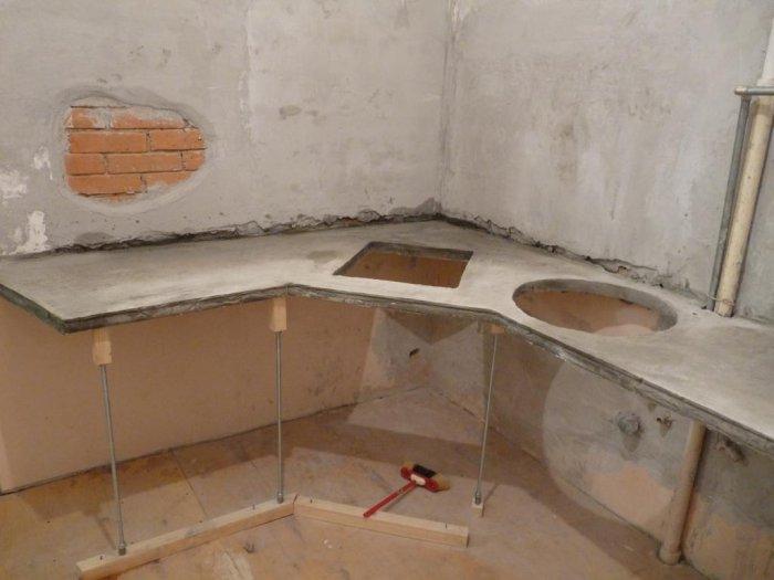 Кухня из плитки своими руками фото